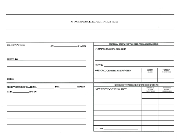 Corporate Stock Ledger Template - Corporate stock ledger template