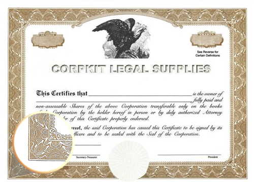 brown blank stock certificate