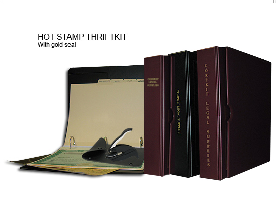 Hot stamp thrift corporate kit for single class