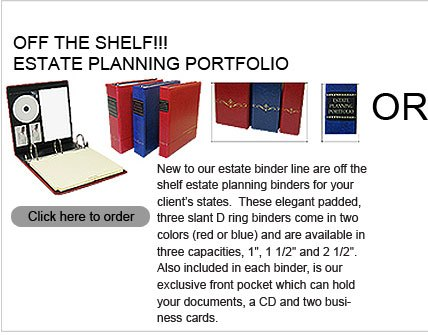 estate planner off the shelf