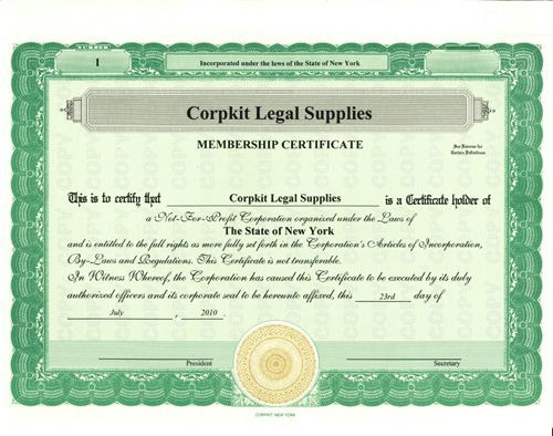 Stock Certificates :: Print Investor\'s Certificate for Your Issuing ...