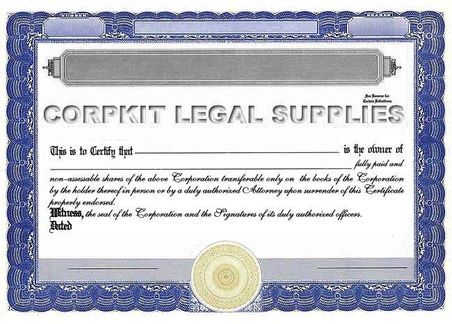 Stock Certificate Template - Corporate stock certificate template