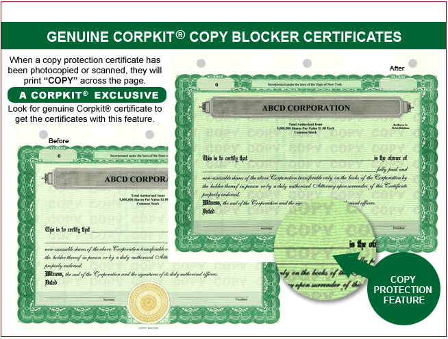 Stock Certificates,LLC Certificates, Share Certificates, Goes ...