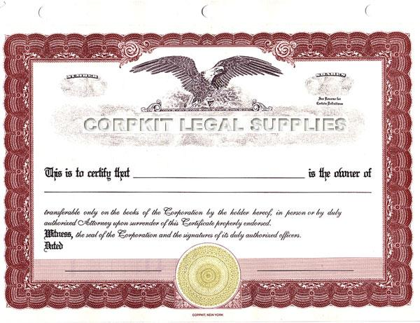red eagle certificate