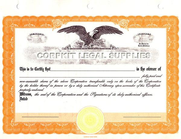 yellow eagle certificate