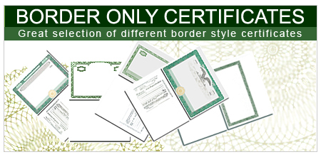 Blank Certificates Border Only Certificates – Blank Share Certificate