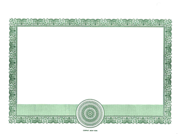 corporate bond certificate template - blank stock certificates border only certificates