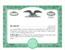 Custom Stock Certificates Eagle C Single Class Corporation