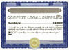 Custom Stock Certificates Single Class Corporation (Standard Border)