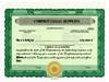 Custom Stock Certificates 2 Class Multi-Class Standard Certificates