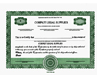 Custom Stock Certificates 3 Class Multi-Class Precise Certificates