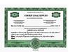 Custom Stock Certificates 4 Class Multi-Class Standard Precise Certificates