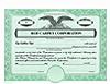 Custom Stock Certificates 2 Class Multi-Class Dwight Jackson Certificates
