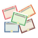 Stock Certificates Blank Standard with Standard Wording on the Back