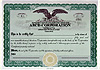 Custom Stock Certificates Single Class Corporation