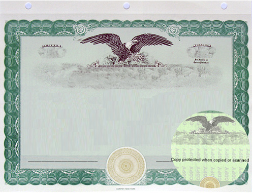 CorpKit Blank Eagle Border only certificate