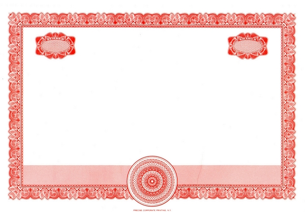Blank stock certificates red stock certificate red eagle blank stock certificate yadclub Gallery