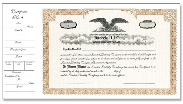 Custom Stock Certificates