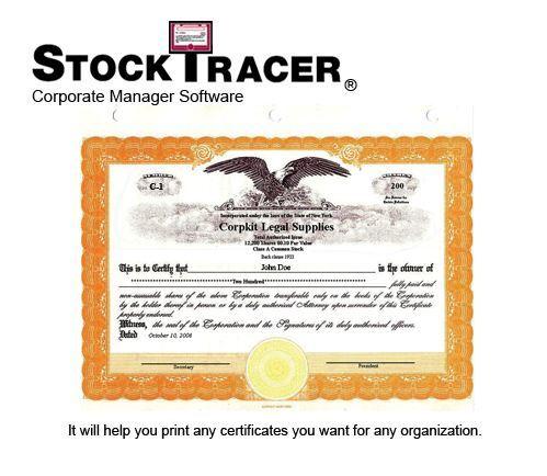 Corporate Kit LLC kit LLC Certificate Corporate Seal – Blank Share Certificate