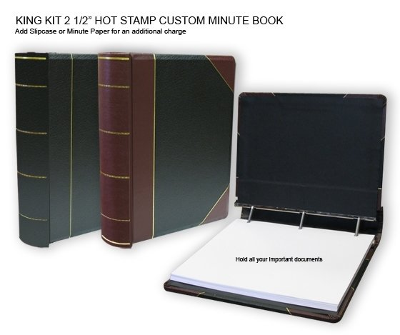 Minute Books, Minute Book Binder, Corporate Binders