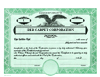 Look-Alike Dwight Jackson Custom Stock Certificates Single Class Corporation