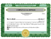 Electronic Digital Single Class Standard Stock Certificates