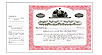 Side Stub Standard Wording Certificates SW3
