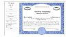 Not For Profit/Non-Profit Side Stub SS5 Stock Certificates