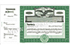Goes 364 Side Stub Stock Certificates