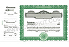 Goes 722 Side Stub Stock Certificates