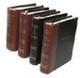 "3 Ring 2"" Precise Line 1/4 bind Leather  Custom Minute Book Binder"