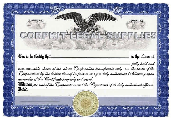 Stock Certificates :: Corpkit Legal Supplies