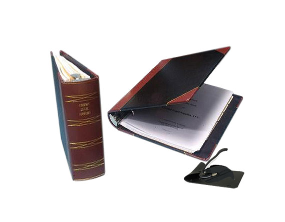 detailed image of 1/4 bind leather corporate kits