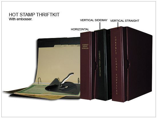 detailed image of hot stamp thriftkit corporation corporate kits